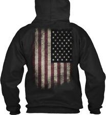 American Tattered Flag Gildan Hoodie Sweatshirt
