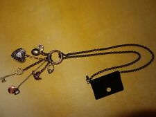 New Look BNWT mixed charm pendant mostly gold tone necklace - mixed metal charms
