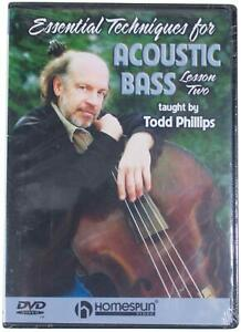 ESSENTIAL TECHNIQUES FOR ACOUSTIC BASS Lesson #2 DVD Sealed NEW 2004 OOP 60 Mins
