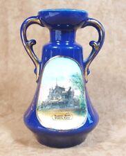 Masonic Home Wichita Kansas Souvenir China Cobalt Blue Vase
