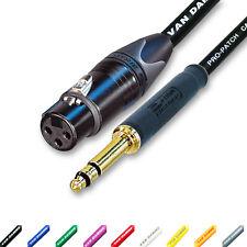 Neutrik TT Bantam Jack to Balanced XLR(F) Black plug and boots. Van Damme Cable