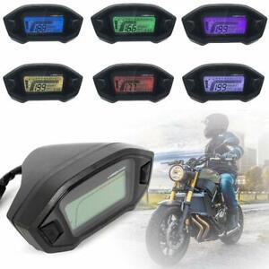 2020 Universale LCD Digitale Moto Contachilometri Tachimetro 7 Colore Contagiri