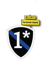 Thin Blue Line Shield Badge 1 ASS TO RISK asterick Decal/Sticker Police TB8