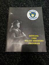 Vintage 1982 Beloit Brewers Program Baseball Minor League