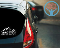 Great Smoky Mountain Decal Sticker Tennessee Smoky Mountains Car Suv Jeep Truck