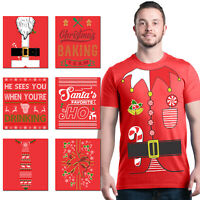 ALL Christmas Men's T-Shirt Funny Christmas Party Holiday Santa Elf Costume Tees