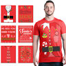 ALL Christmas Men`s T-Shirt Holiday Santa Elf Costume Xmas Funny Ugly Red Tees