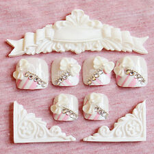24pcs Hot Summer Must Have Lady Style Bow Tie Fake False Toenails T141