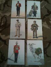Set x 6 Military Postcards Royal Regiment of Wales by Alix Baker