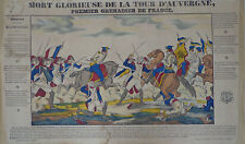 Rare Vintage Imagerie Epinal Pellerin 1850 print/Mort Glorieuse...INV2306