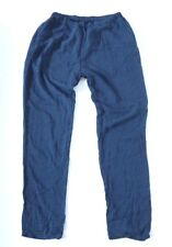 Women's Vintage PIKE Pull On Lightweight Tapered Navy Viscose Pants W34 L32