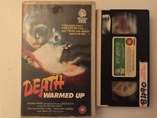 Death Warmed UP VHS rare zombie big box PAL horror slasher pre cert nasty cult