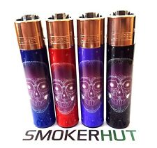 Clipper Lighter Set - STAR SKULLS - Extremely Rare One Off Collection - x4 pcs