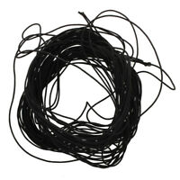 Ein Buendel schwarze elastische Kordel & Gummiband  T5O3