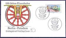 Berlin 1988: Eisenbahn Berlin-Potsdam 150 Jahre! FDC der Nr. 822! 1A! 1711