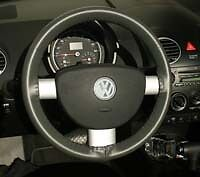 Volkswagen Genuine Leather Steering Wheel Cover - All Models Wheelskins WSVW