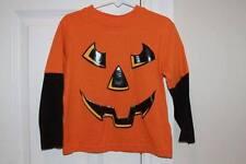 Halloween Pumpkin Jack-o-lantern Layered Long Sleeve 4T