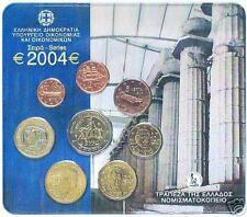 2004 div Grecia 8 monete EURO grece greece griechenland