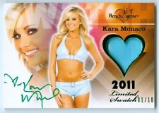 """KARA MONACO """"BIKINI AUTOGRAPH CARD #01/10"""" BENCHWARMER LIMITED 2011"""