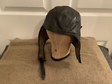 Karl Ort ~ Leather Flying Helmet Pilot Flight Cap