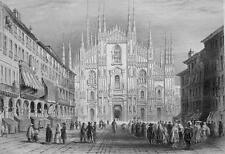 ITALY Milan Cathedral - 1861 Engraving Antique Print