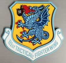 "8"" Usaf 81st Tactical Fighter Wing Insignia Crest Plaque Bentwaters Usafe A-10"