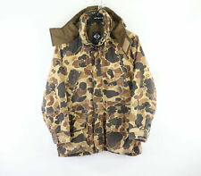 Vtg 80s Columbia Goretex Mens Small Distressed Hooded Camouflage Hunting Jacket