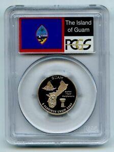 2009 S 25C Clad Guam Quarter PCGS PR70DCAM