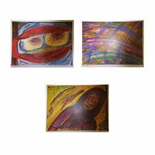 Etudes scripturales peinture acrylique isorel bois ARTBOOK by PN