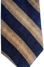 "Calvin Klein Men's Silk Tie 58.5"" X 4"" Black & Brown American Stripes"