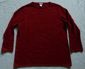 Angora Rabbit Merino Wool Red Crew Sweater - XL Womens 1X Randolph Duke