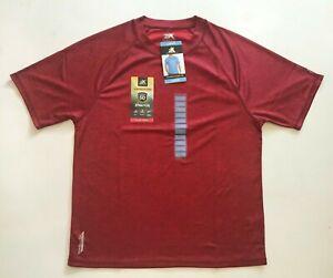 ZEROXPOSUR Men's Red Jake Shirt Size Large L Crew Neck Active Short Sleeve UPF