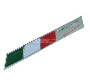 2pcs Italy IT Flag Sline Trunk Rear MOTORSPORT Sport Emblems Badge Sticker Decal