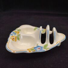 More details for crown ducal art deco pottery rosemary toast rack and egg cup dish c1920s