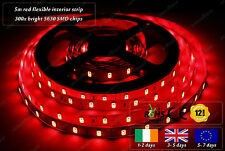5m Indoor 300x 5630 LED Red Fairy Lights Home Interior Decorative Strips 12VDC