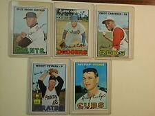 1967 Topps Lot of 5 Baseball Cards 83-168-221-325-330