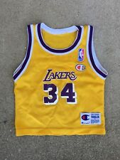 Shaquille O'Neal Los Angeles Lakers  #34 NBA Champion Toddler Jersey 3T Rare Vtg