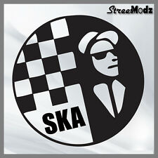 Ska Car Scooter Camper Window Bumper Guitar Laptop wall Sticker