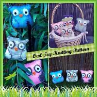 Toy Owl Knitting Pattern