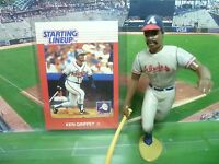 1988  KEN GRIFFEY - Starting Lineup - SLU - Loose With Card - Atlanta Braves