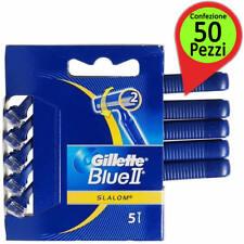 Rasoio Usa e Getta Gillette Blue II Slalom Confezione da 50 Rasoi