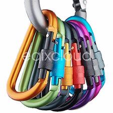 6X Aluminum Carabiner D-Ring Key Chain Clip Snap Hook Karabiner Camping Keyring