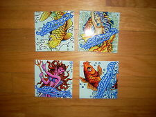 NEW SET Awesome ~ ED HARDY Signature COLLECTIBLE ART TILE Graphic BEACH DECO LOT