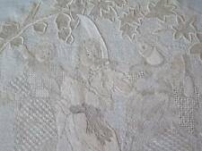Remarkable Antique Figural Pictorial Whitework Embroidery Appenzel Panel Museum
