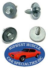 67-69 GM Camaro Firebird Cowl Vent Screws Between Hood & Windshield Trim 4pcs UG