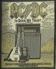 AC/DC - Patch Aufnäher - In Rock We Trust 8x10cm