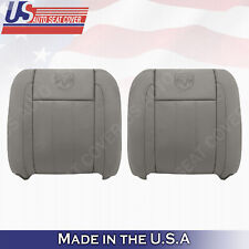 Dodge Ram 3500 4500 Driver-Passenger UPPER LEATHER Seat Covers Tan 2006 TO 2009