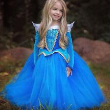 Kids Girls Princess Dress Up Costume Fairytale Cinderella Snow White Outfit UK