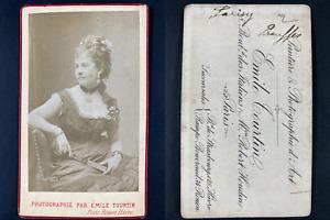 Tourtin, Paris, Mademoiselle Parisy Vintage cdv albumen print.