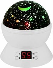 Moon Light Night Lamp Constellation Ceiling Projector Star Timer Auto Off Kids